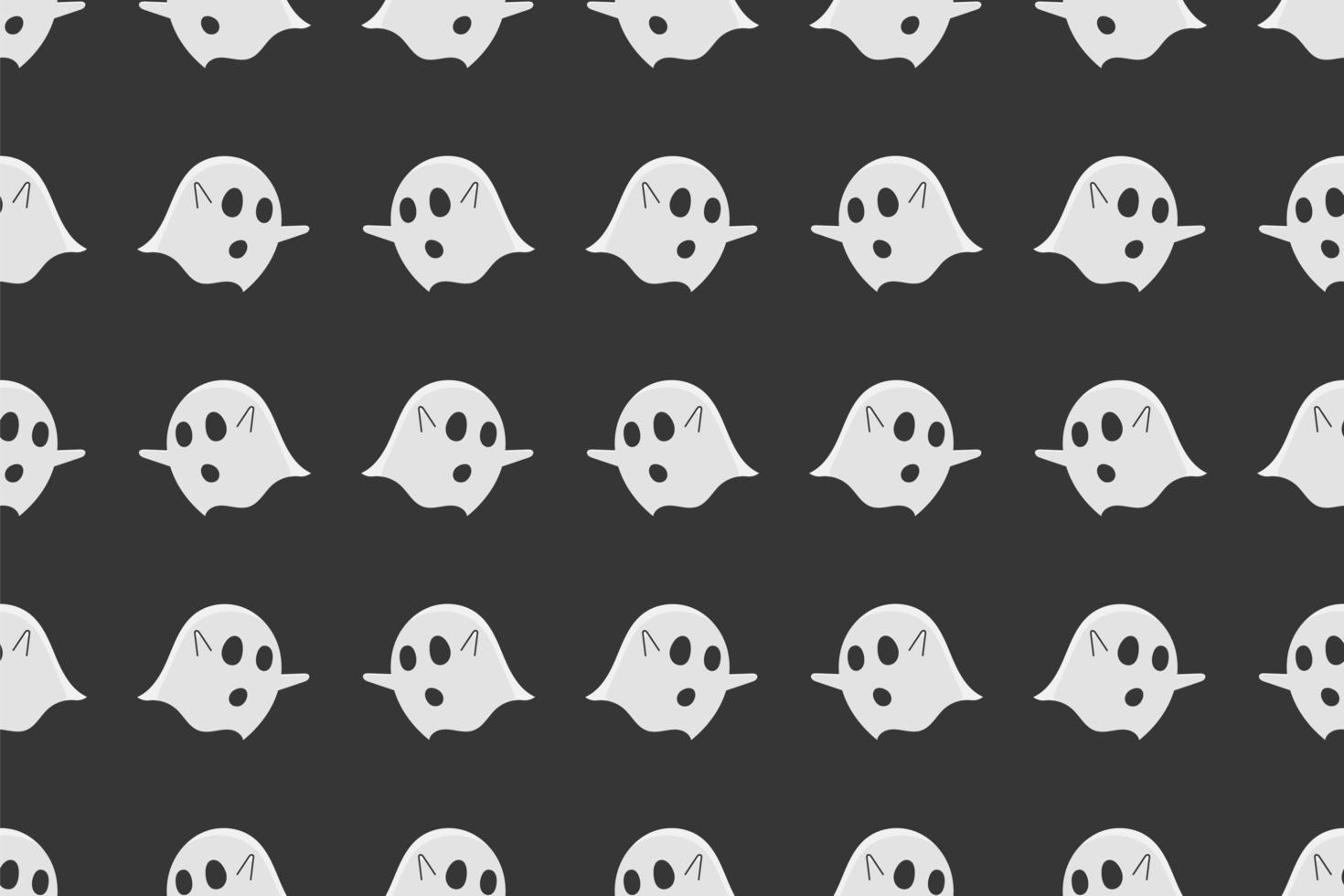 fantasma senza cuciture su sfondo nero. vettore