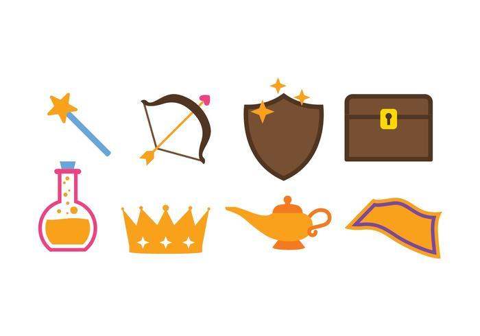 Set di icone di fantasia vettore