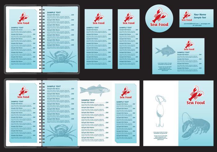 Modelli di menu di pesce vettore