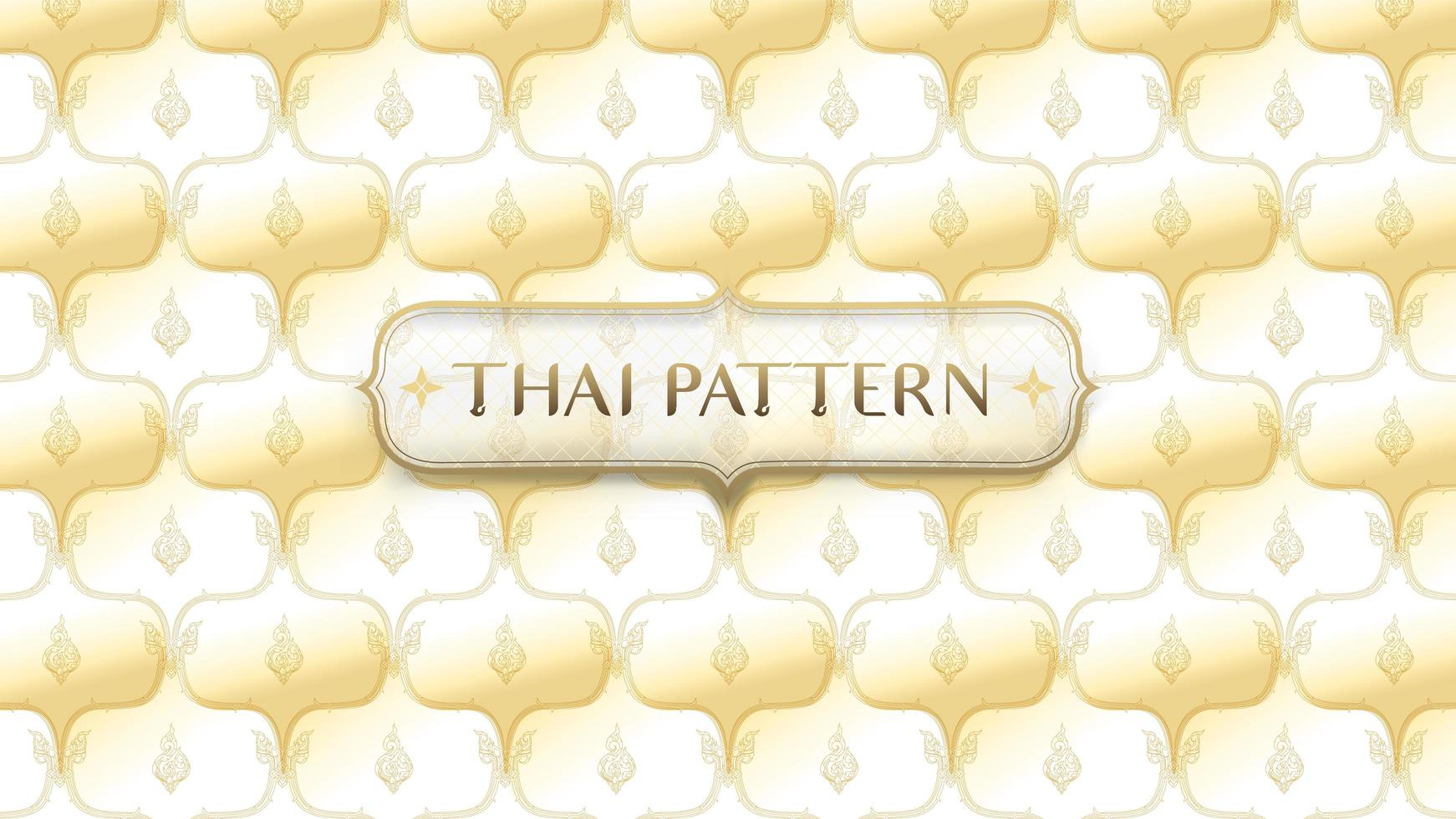 modello tailandese tradizionale dorato astratto con telaio vettore