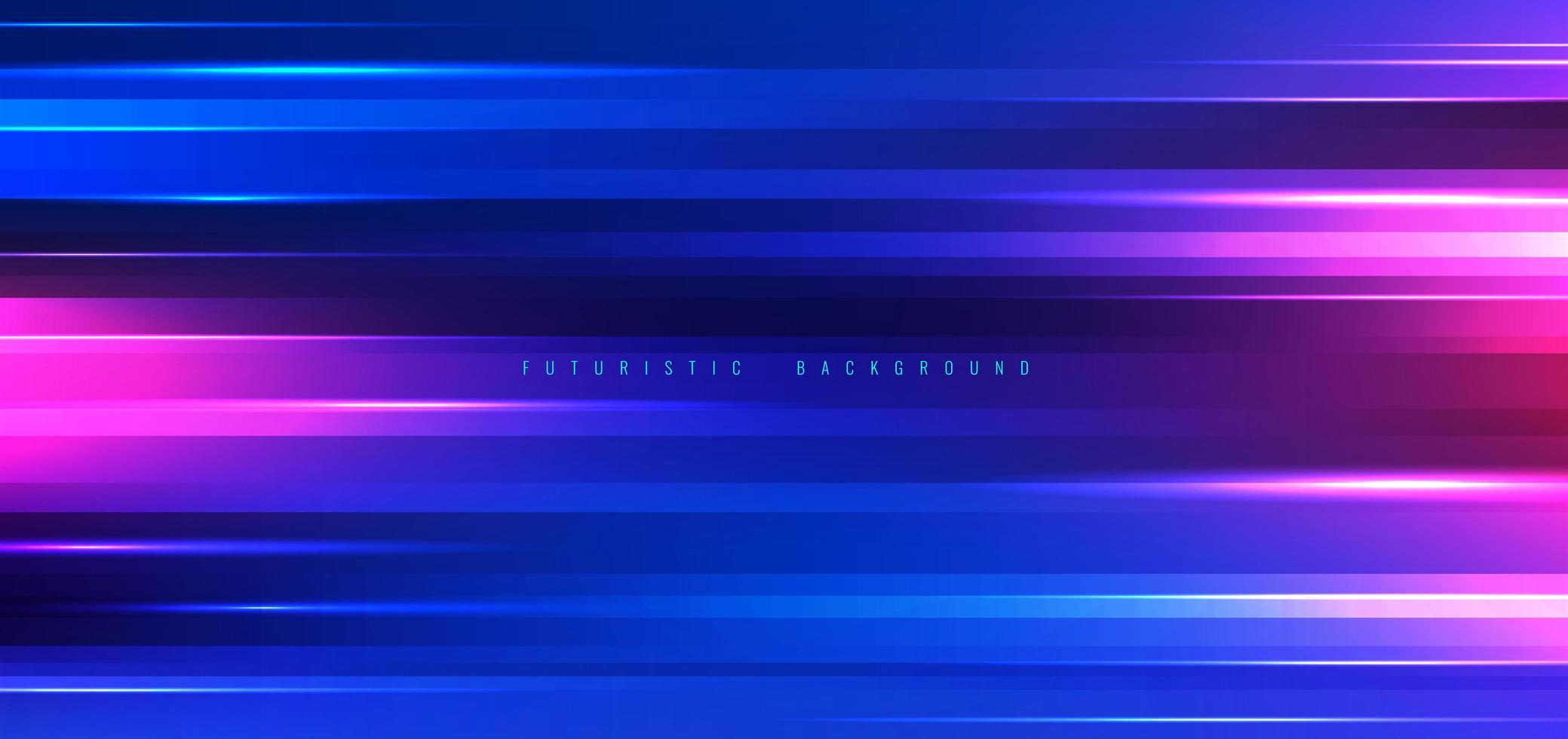 futuristico effetto luce al neon blu e rosa vettore