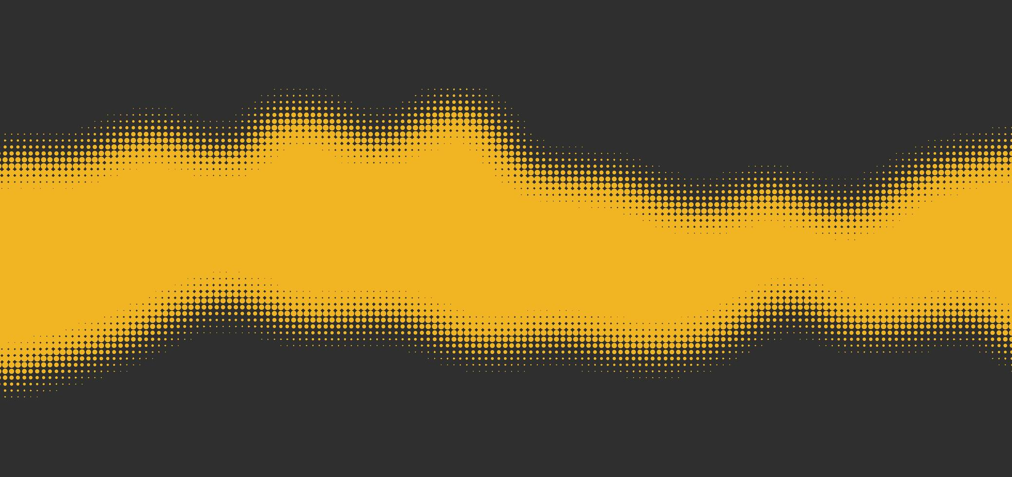 giallo su effetto mezzetinte grigio con spazio per il testo vettore