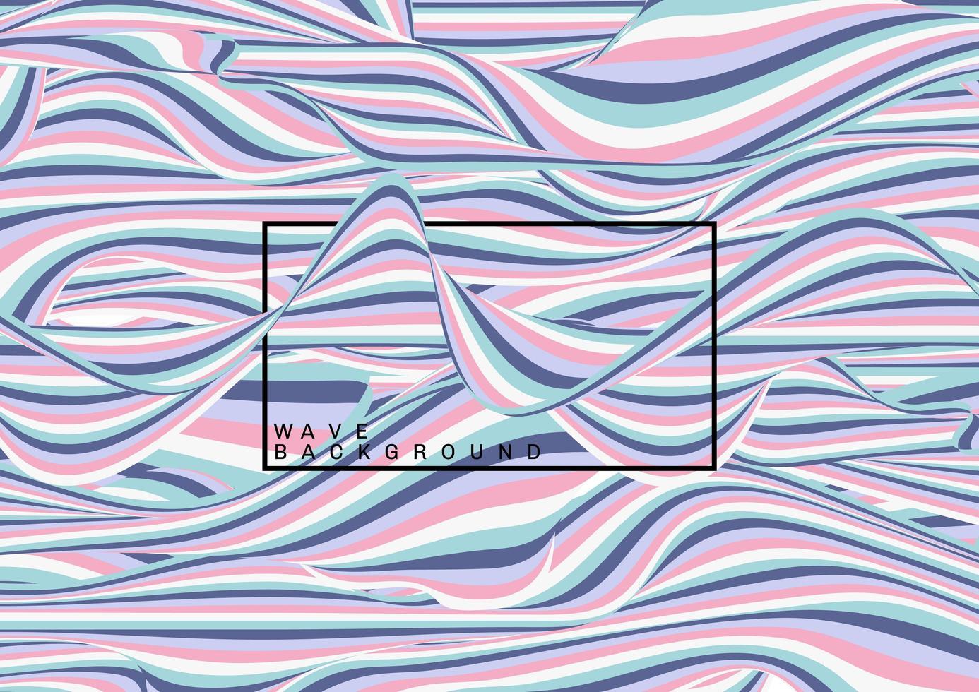 modello astratto linee d'onda di colore pastello vettore