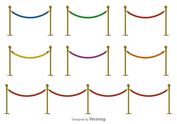 Icone di colore di vettore di corda di velluto