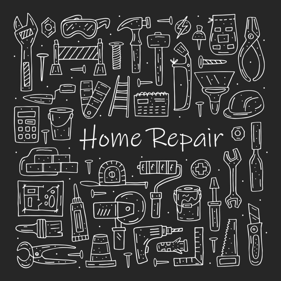 strumenti di riparazione domestica vettore