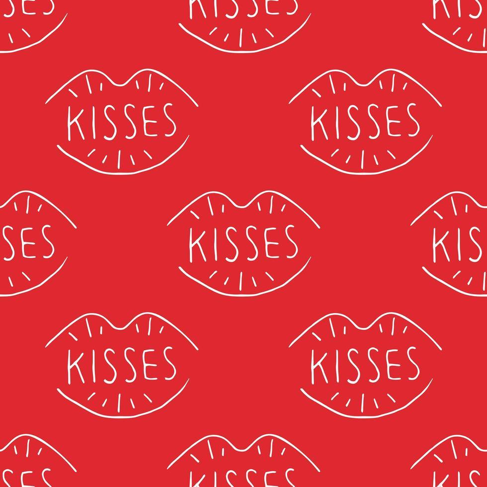 baci con scritte vettore