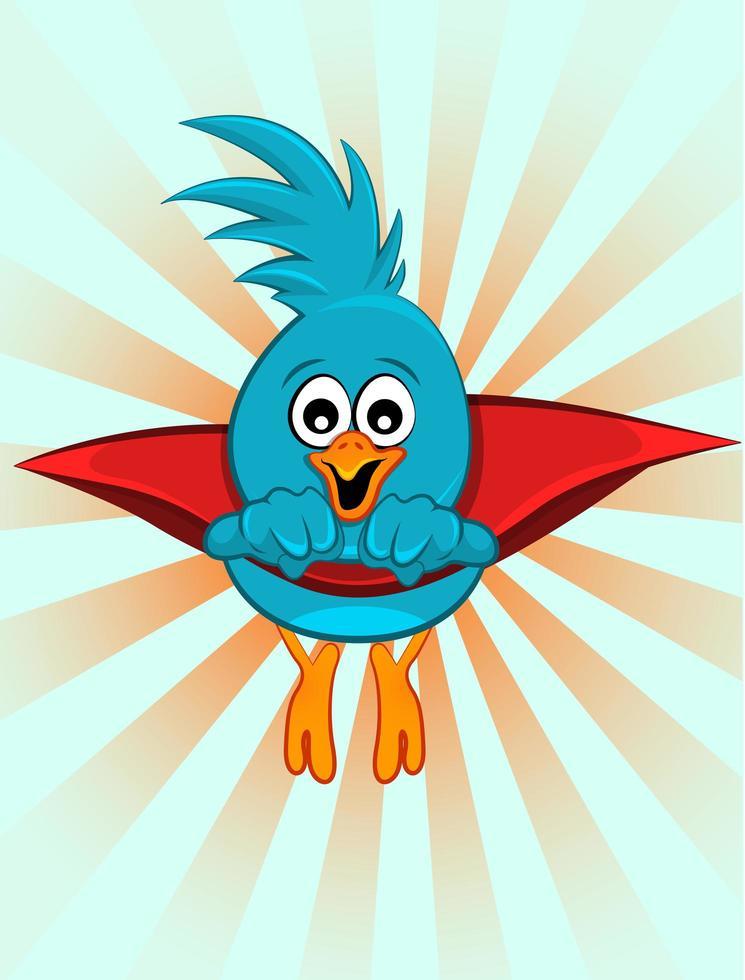 supereroe uccello blu vettore