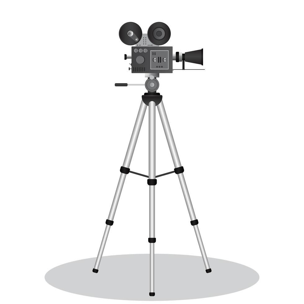 proiettore cinematografico vintage vettore