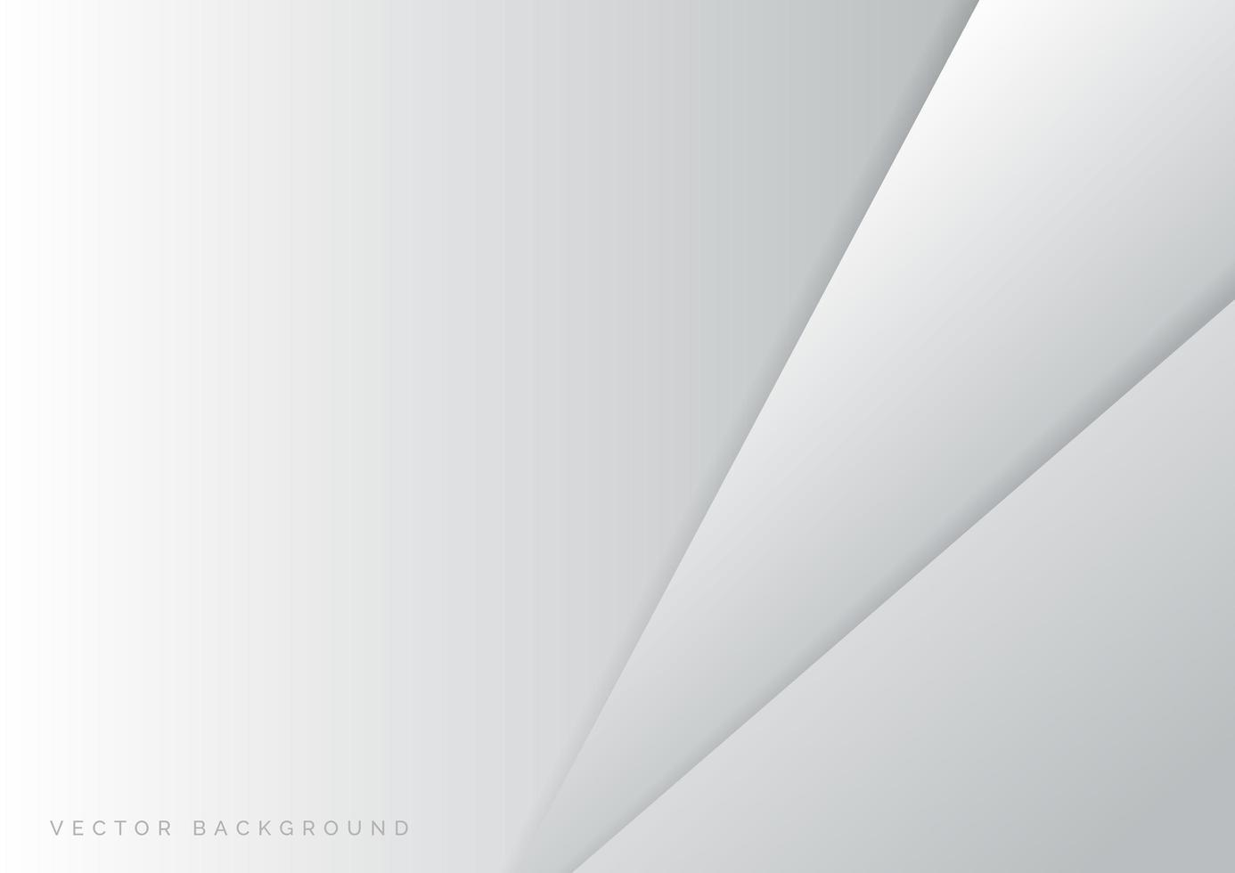 astratto moderno design grigio e bianco strato di carta sullo sfondo vettore