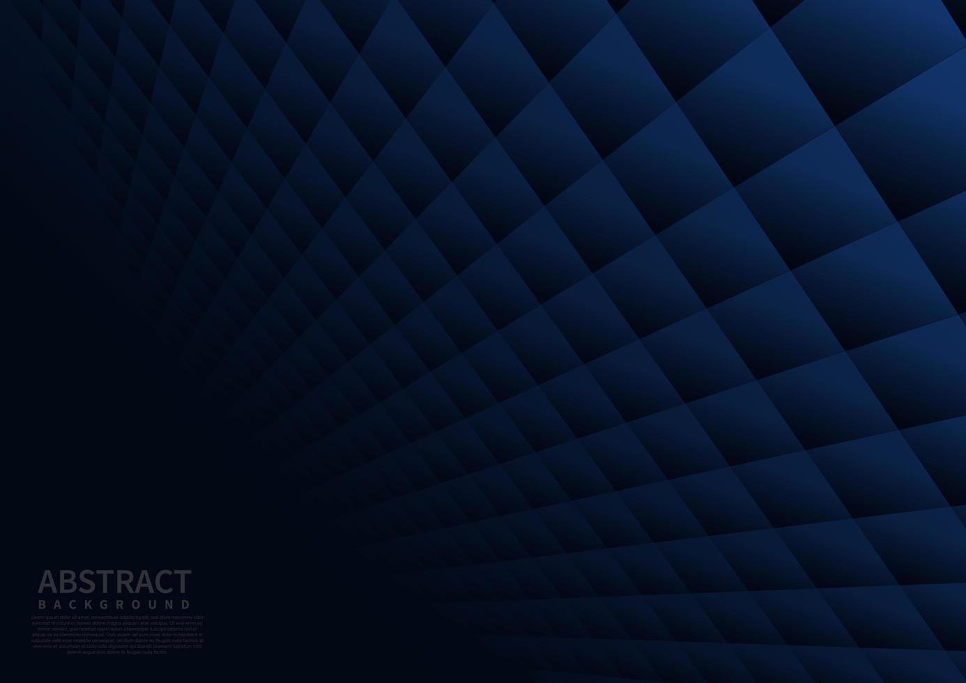 fondo quadrato geometrico astratto blu scuro vettore