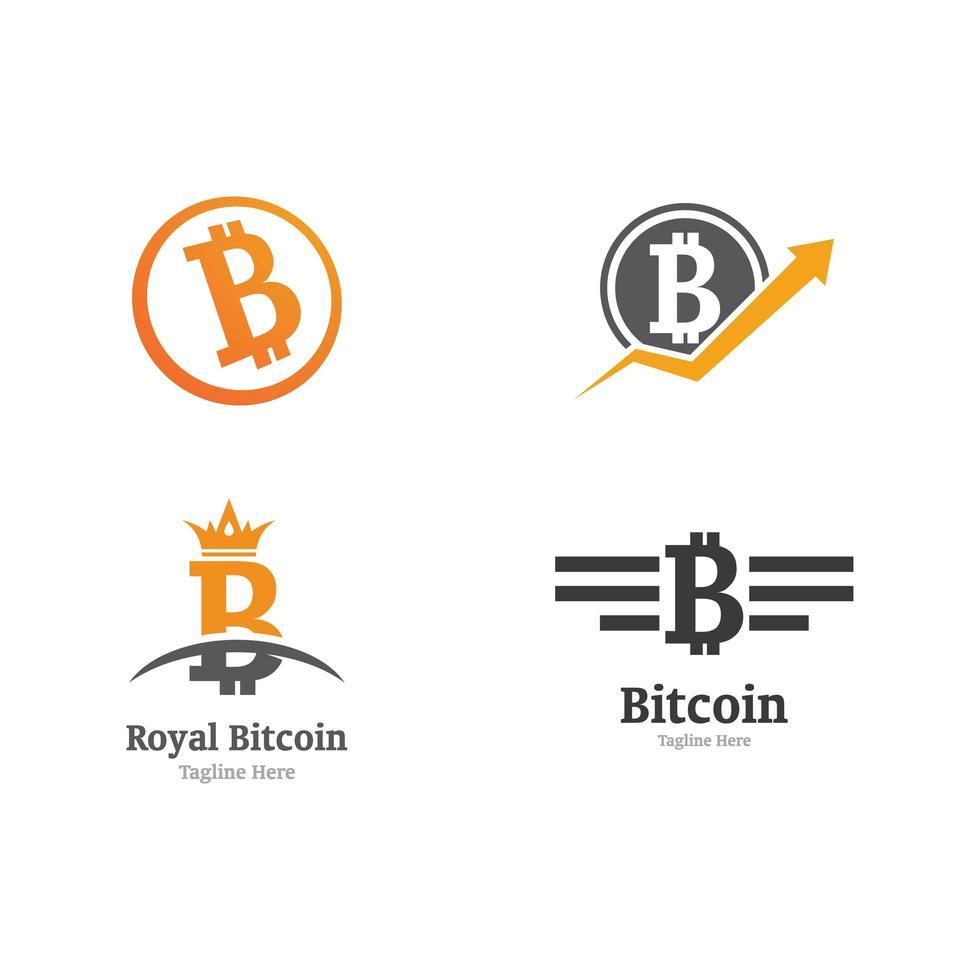 set di icone di moneta bit vettore