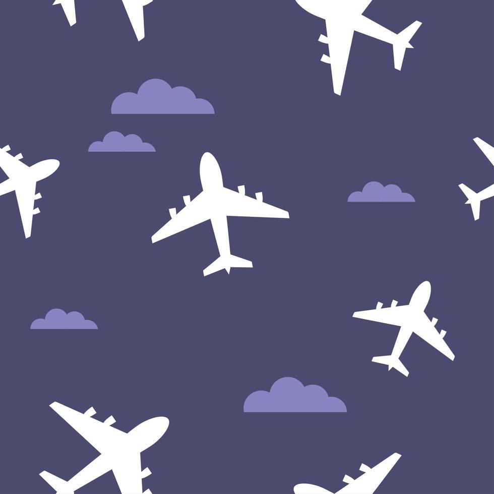 modello senza cuciture di aeroplano vettore