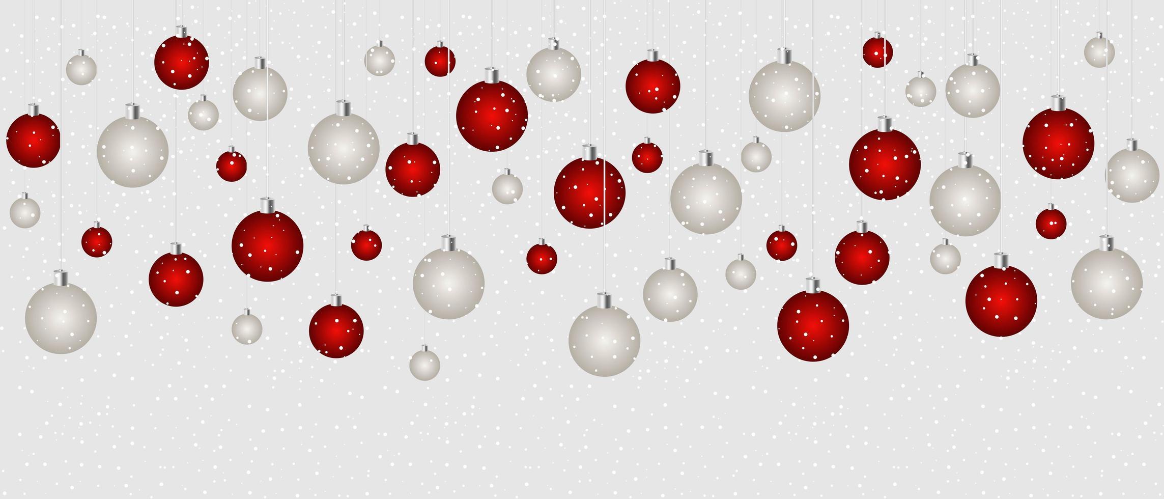 sfondo di palle di Natale vettore