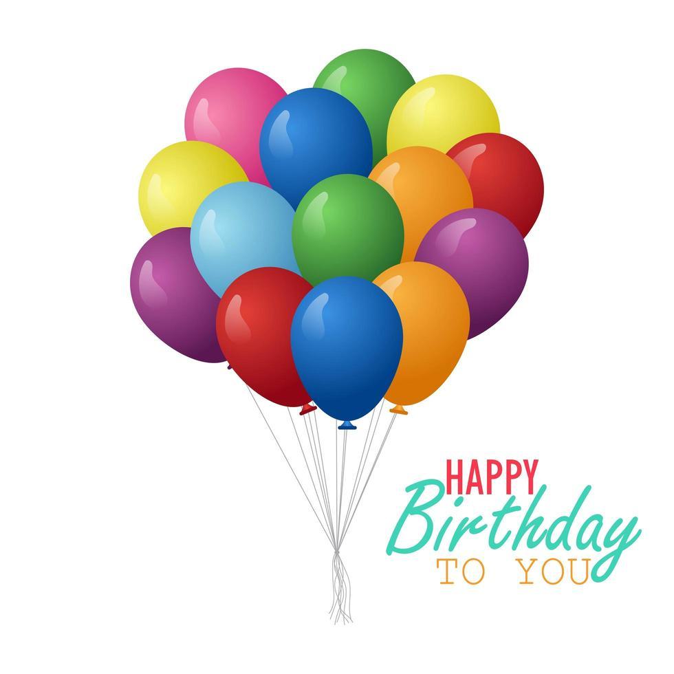 palloncini di compleanno realistici vettore