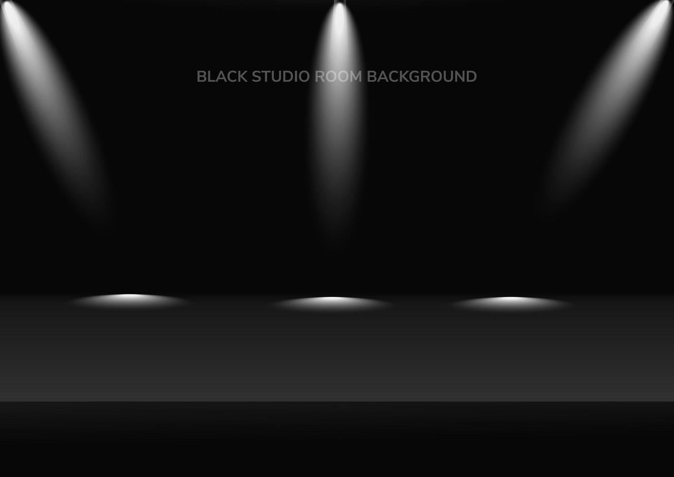 sfondo scuro camera studio con sfondo di riflettori vettore