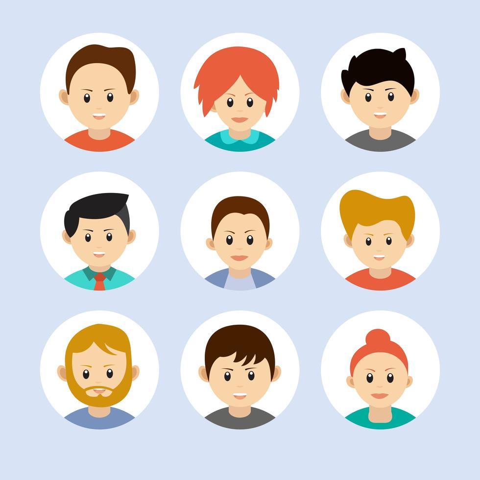 persone avatar icone. vettore
