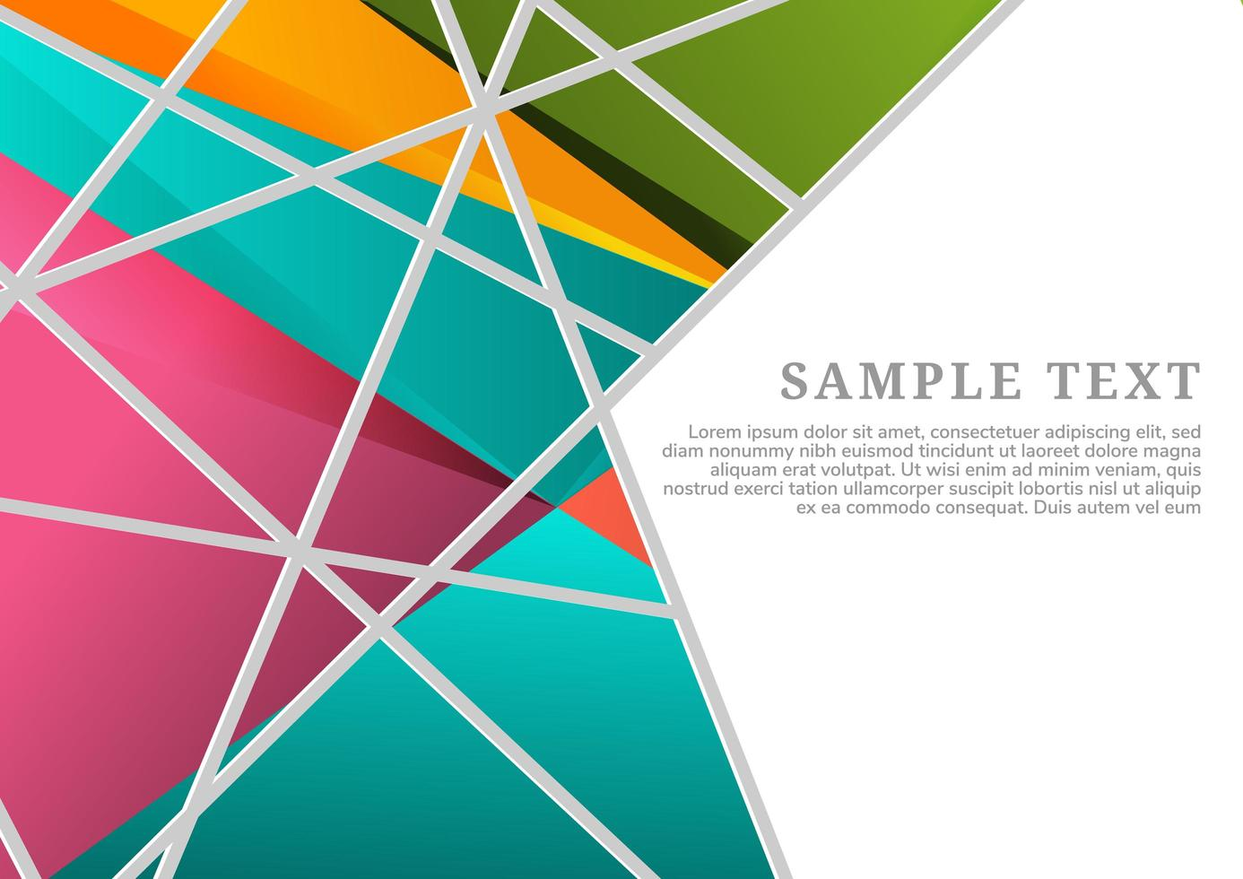 sfondo colorato geometrico astratto vettore