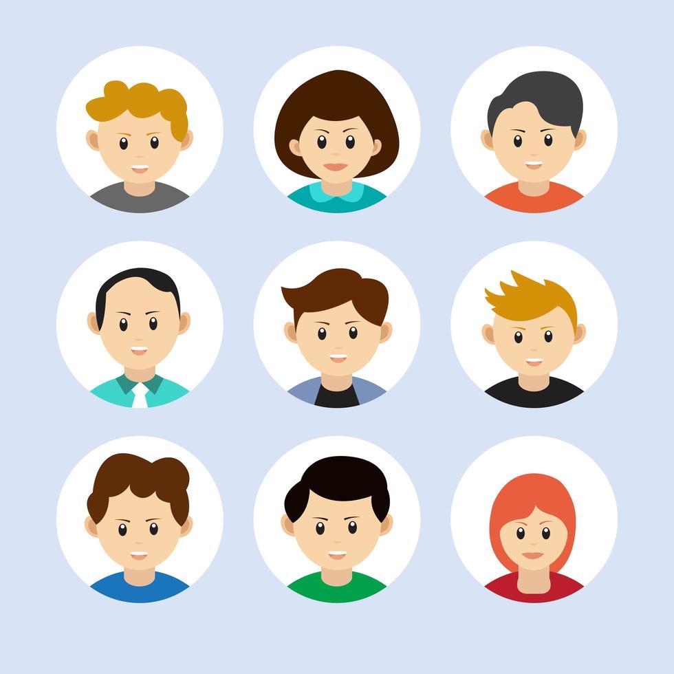 set di avatar di persone vettore