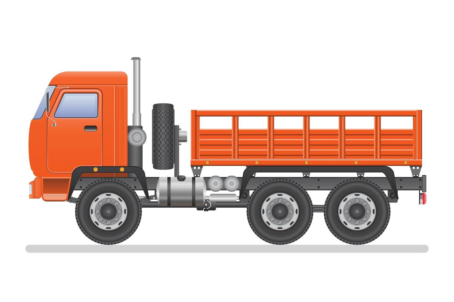 camion vuoto isolato vettore
