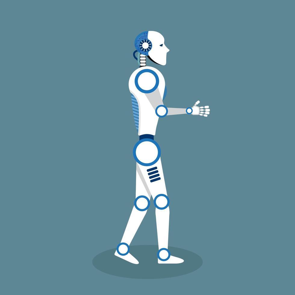 robot in design piatto vettore