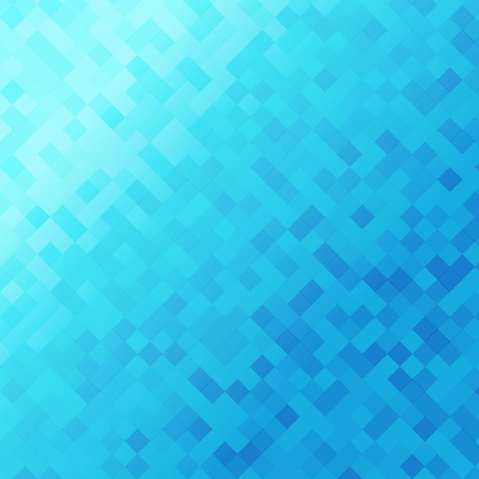blu mosaico quadrati pattern di sfondo vettore
