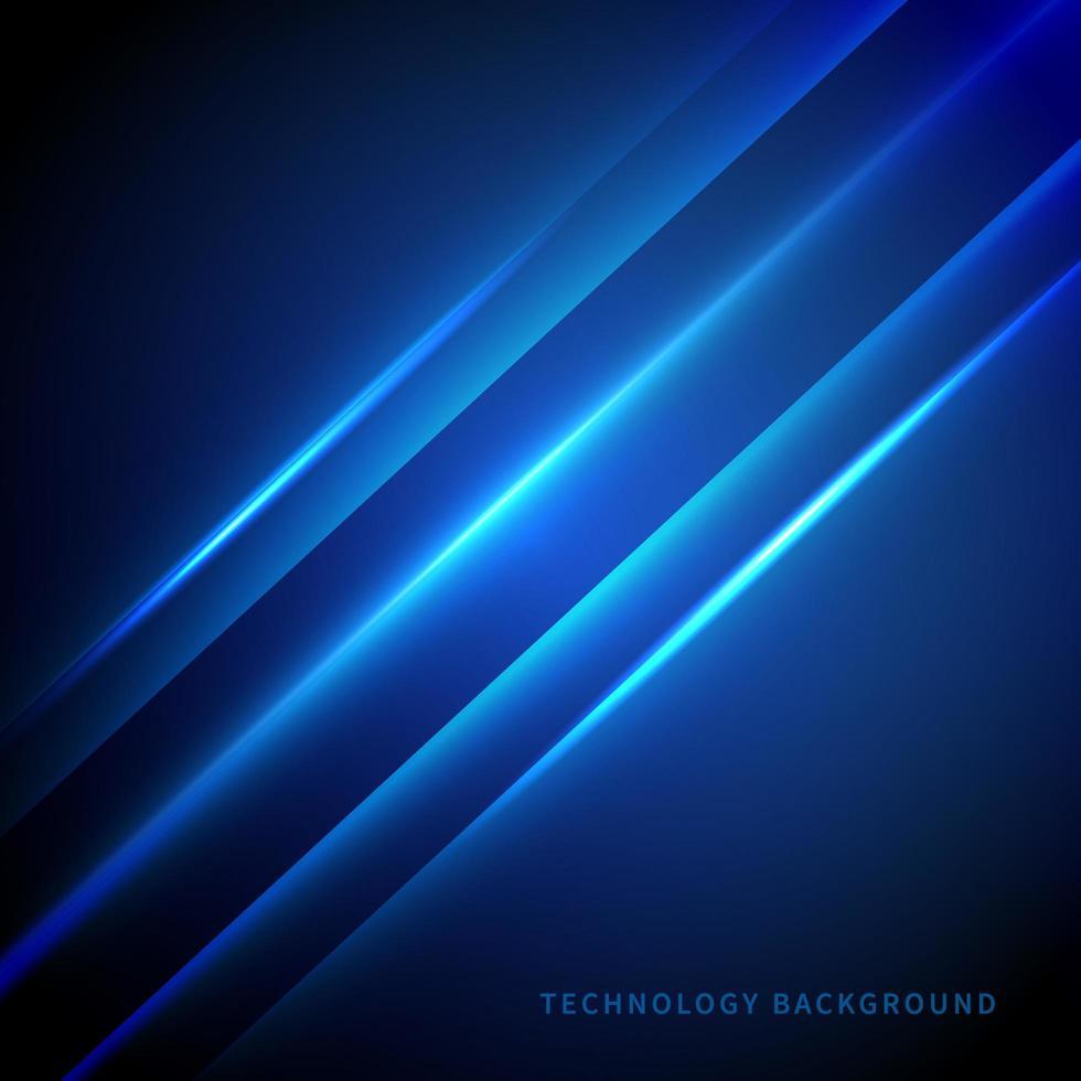 linea laser diagonale su sfondo blu scuro vettore