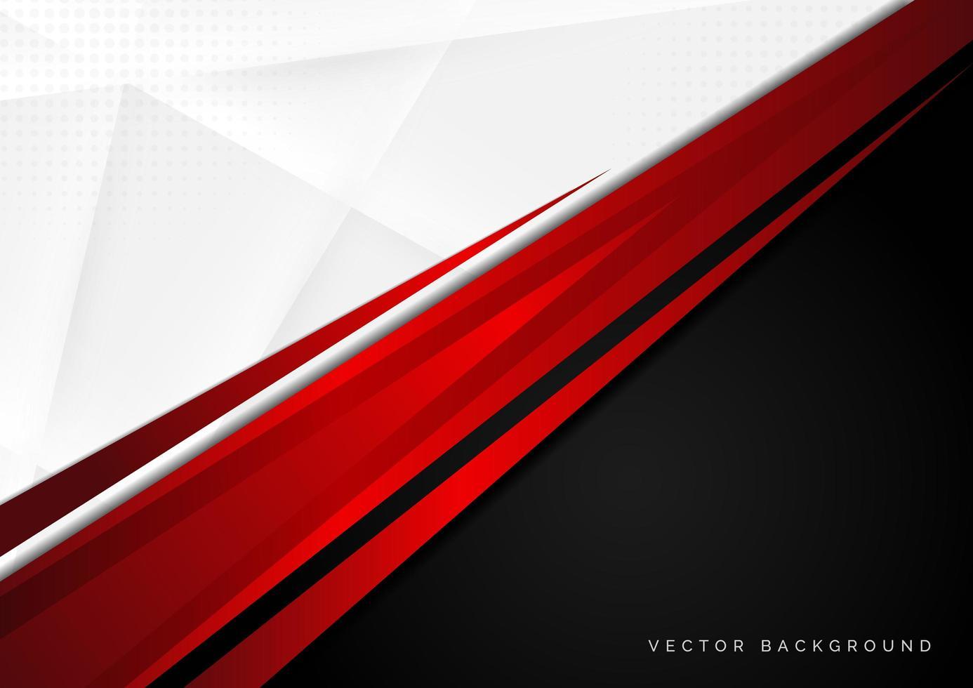 modello di sfondo astratto rosso, bianco e nero vettore