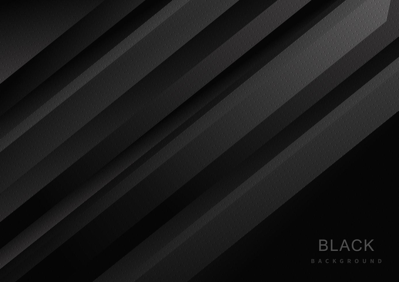 sfondo nero moderno astratto con strisce diagonali vettore