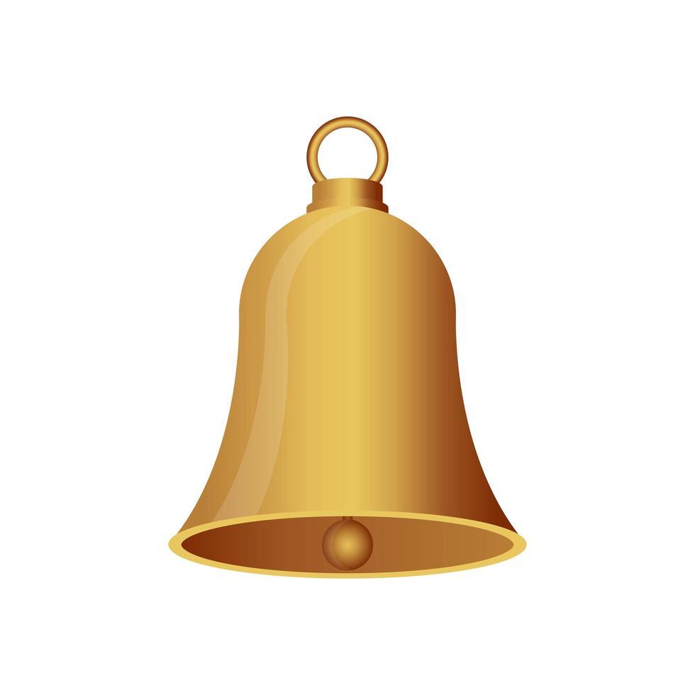 campana di natale isolata vettore