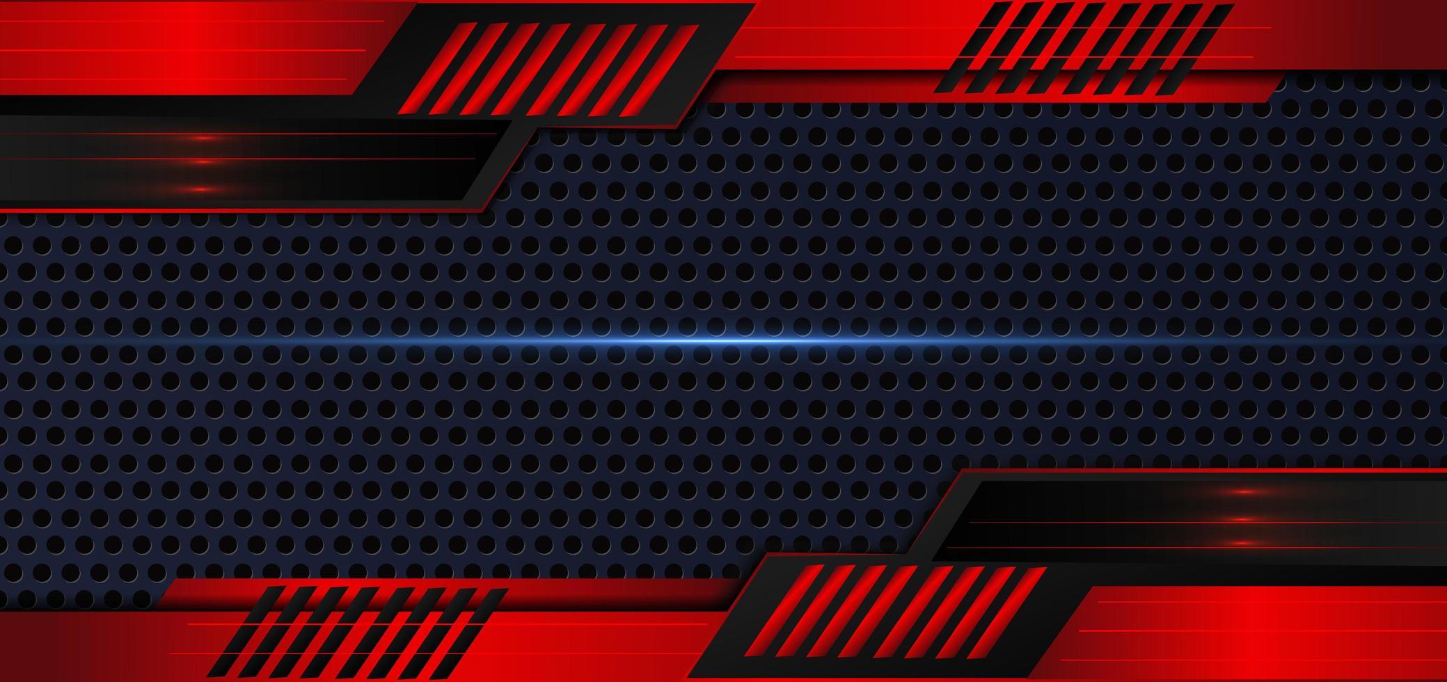 sfondo metallico astratto rosso e nero vettore