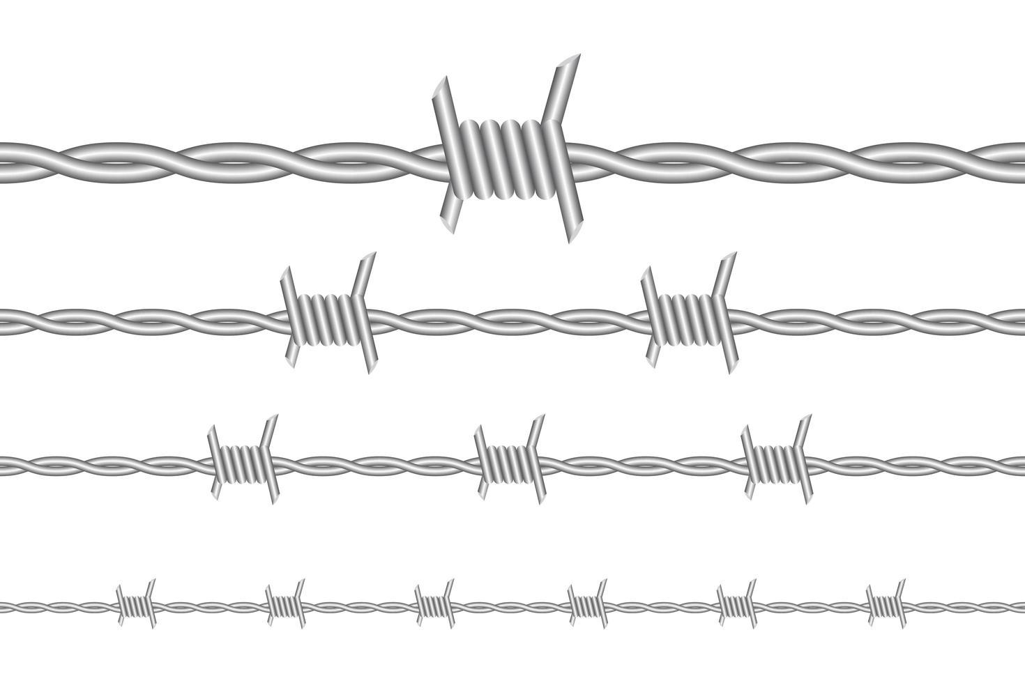 filo spinato isolato vettore