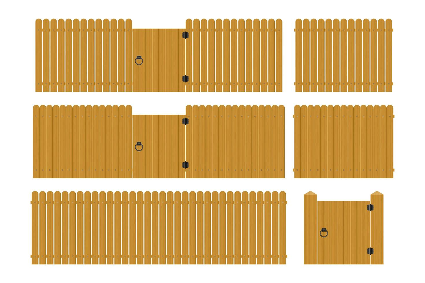 set di recinzione in legno vettore