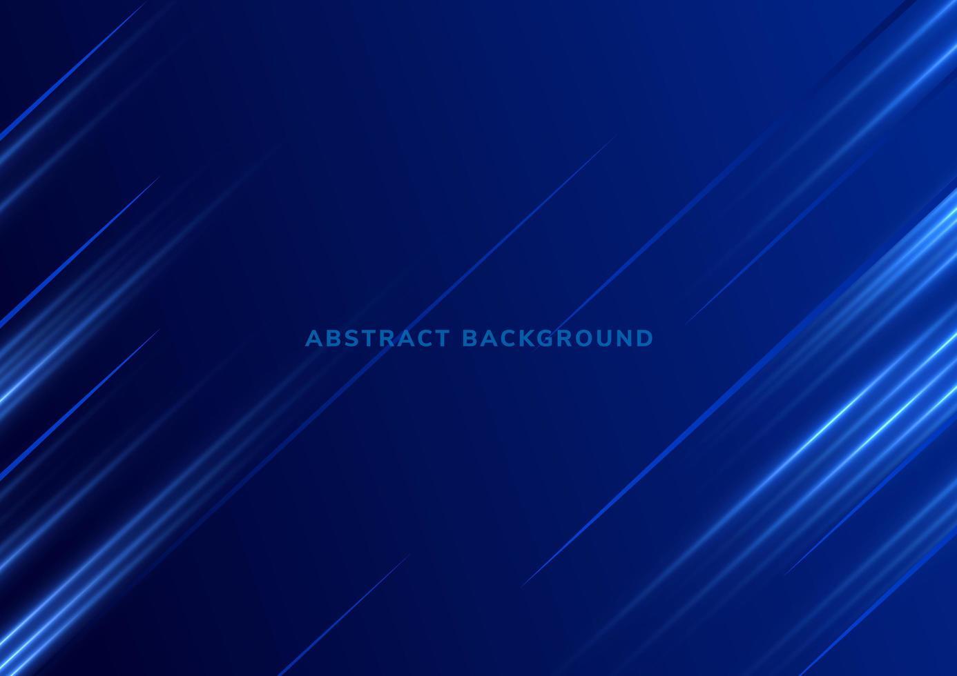sfondo tecnologia con luci blu diagonali vettore