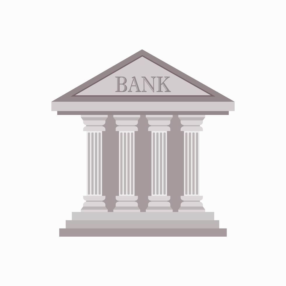 banca edificio isolato vettore