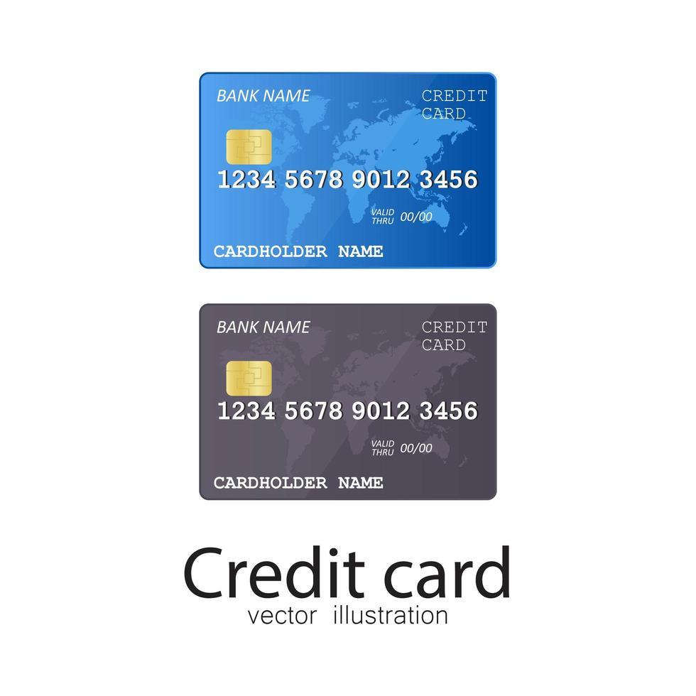 carta di credito isolata vettore