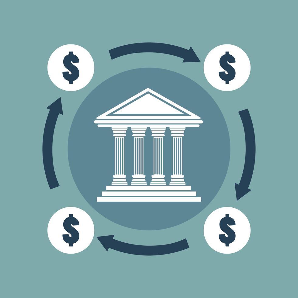 concetto bancario in design piatto vettore