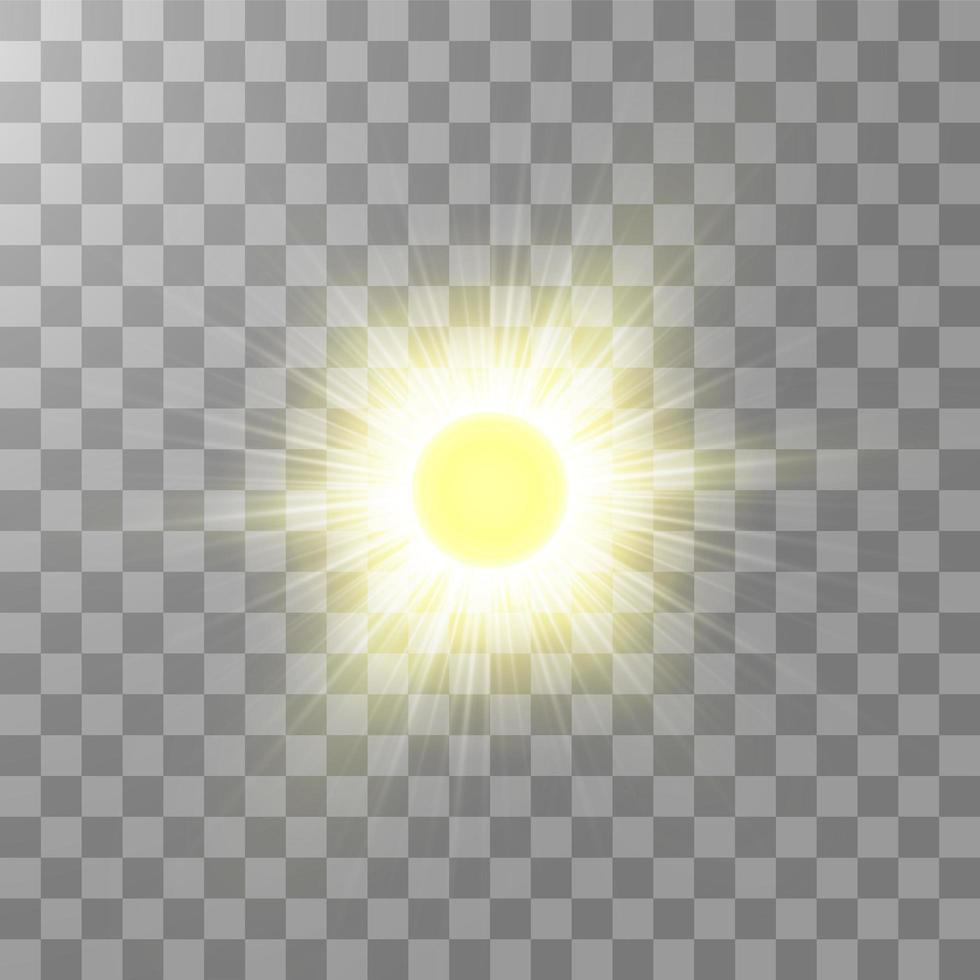 sole splendente luminoso vettore