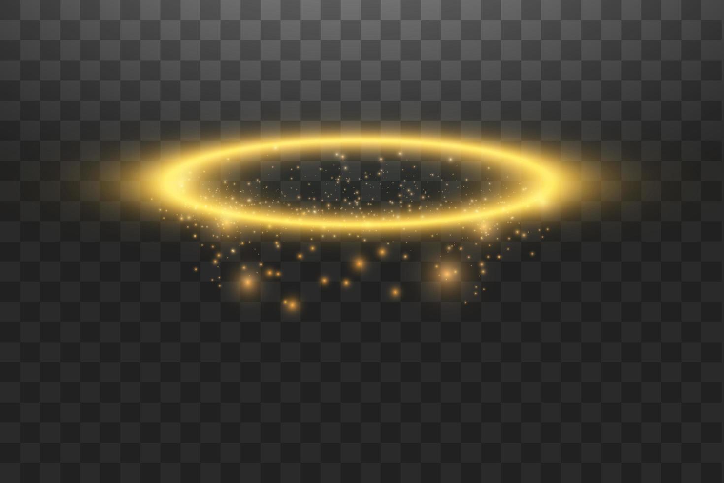 anello angelo aureola in oro vettore