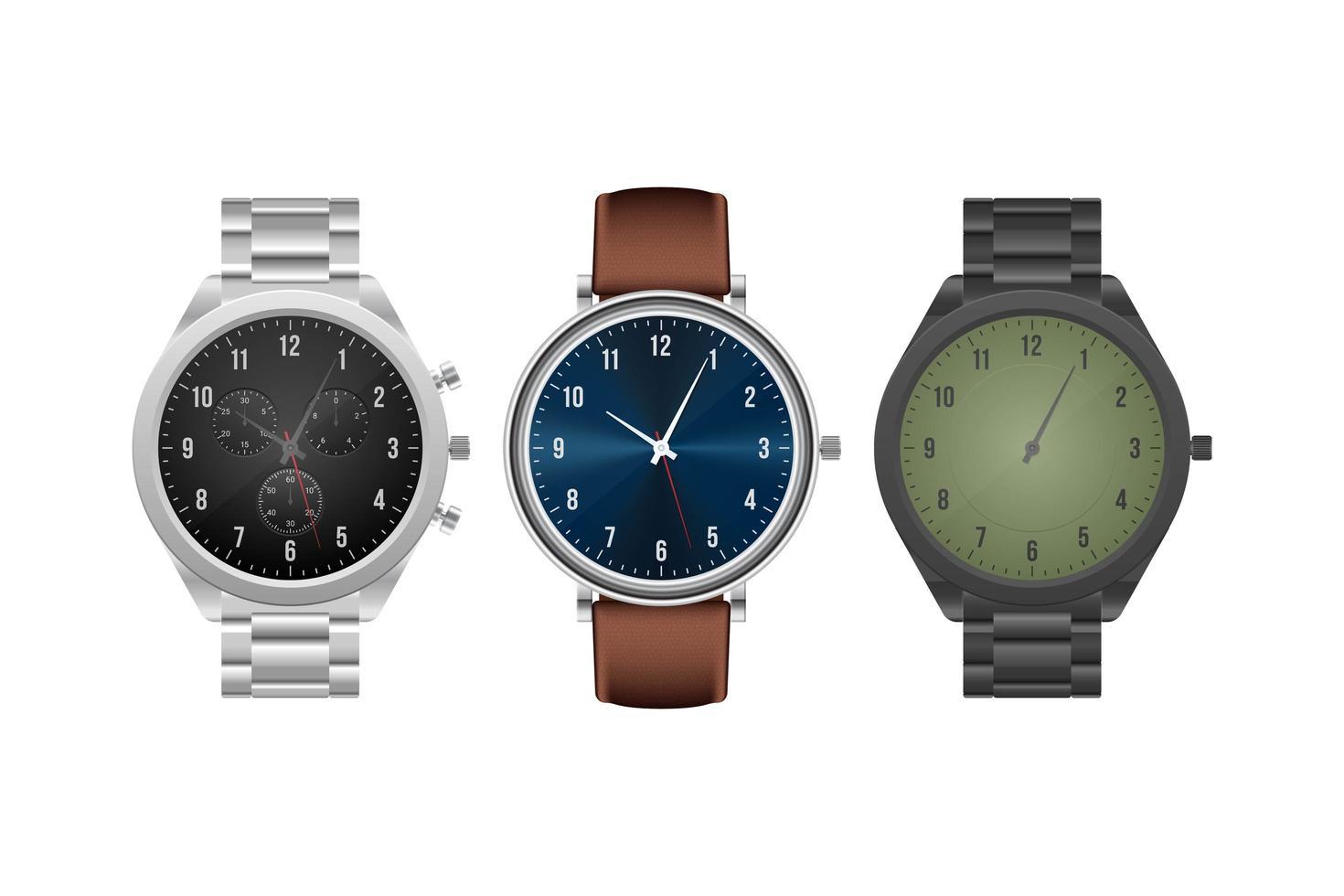 orologio da polso classico isolato vettore