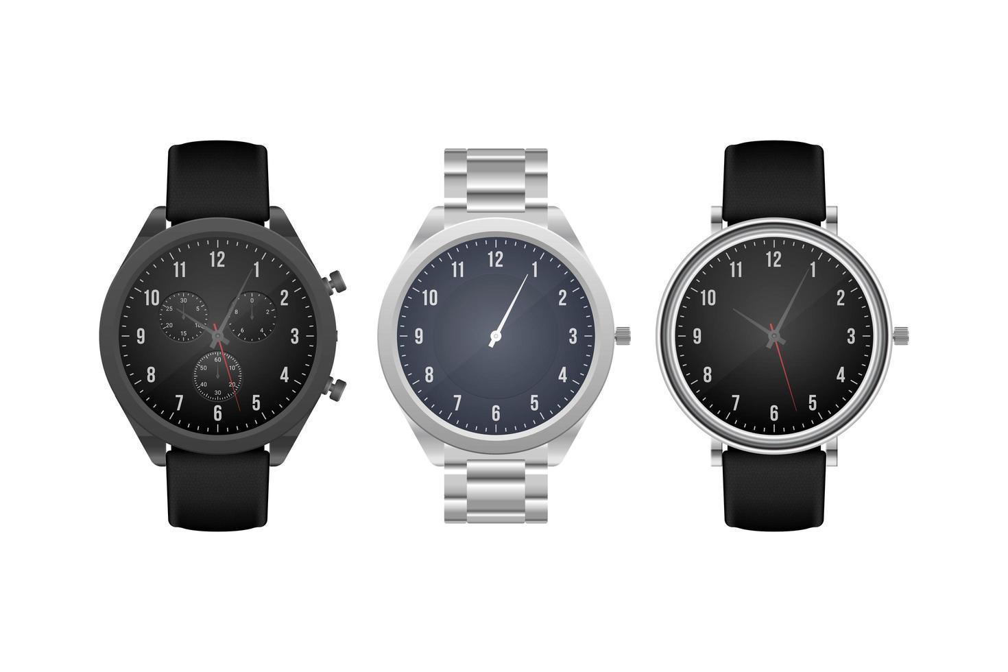 orologio classico della mano isolato vettore