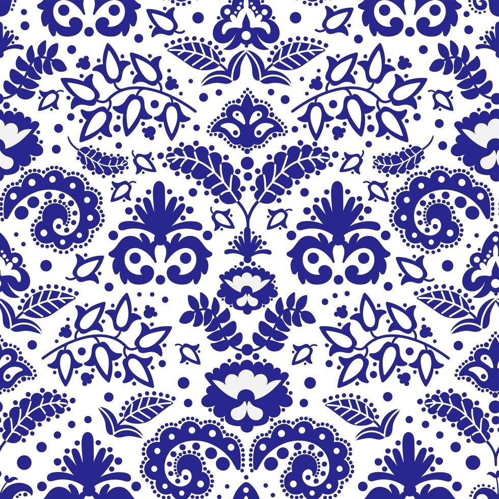 modello senza cuciture ornamento blu vettore