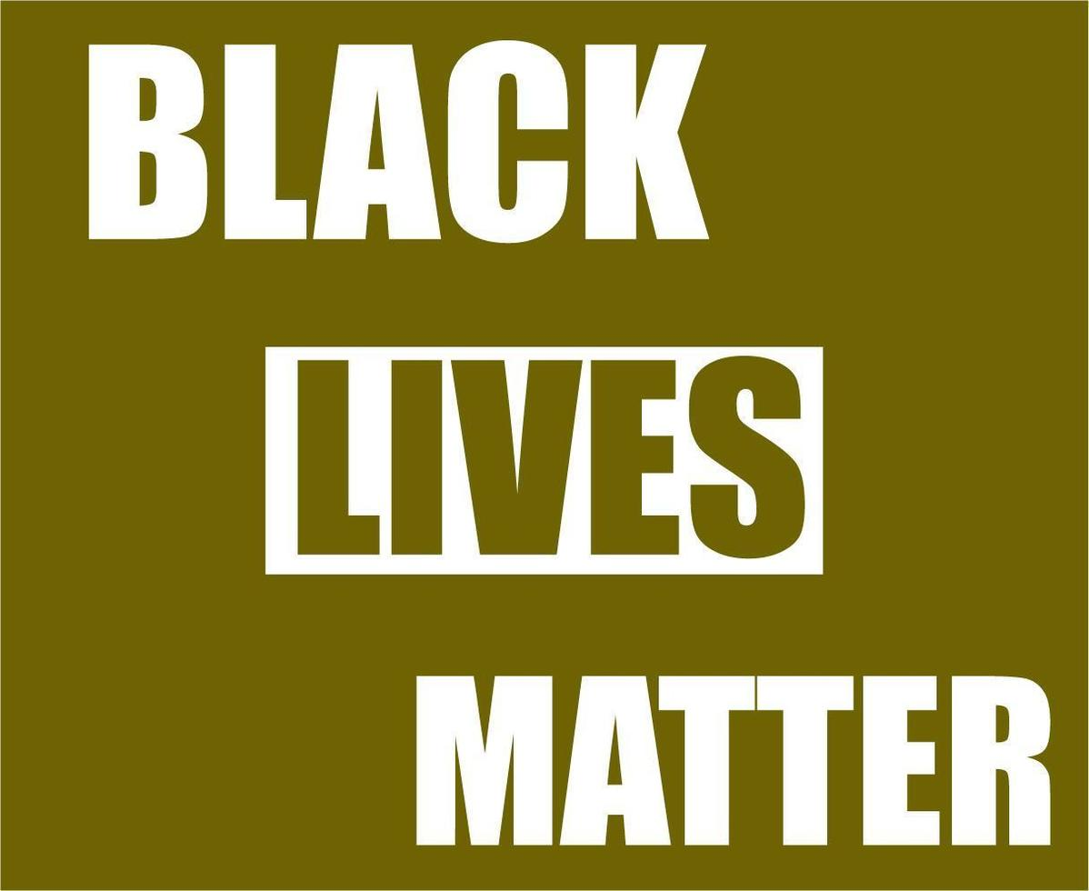flag black lives matter vettore