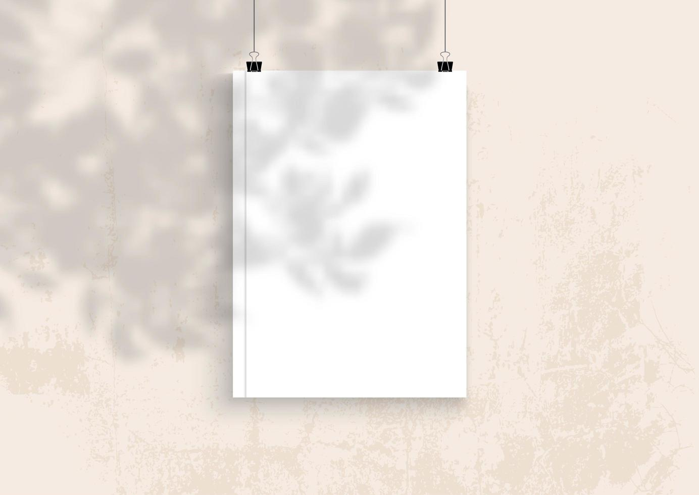 libro bianco mock up vettore