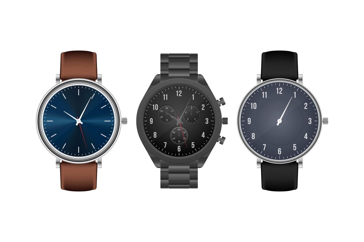 orologio da polso elegante realistico isolato vettore