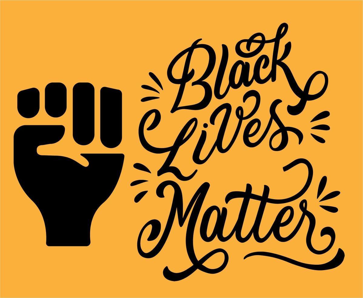fermare il razzismo. le vite nere contano. vettore