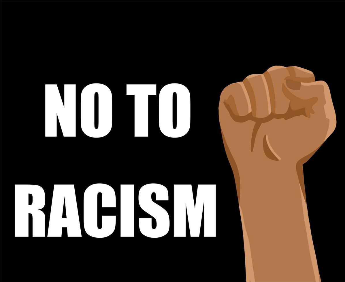 no al movimento razzista vettore