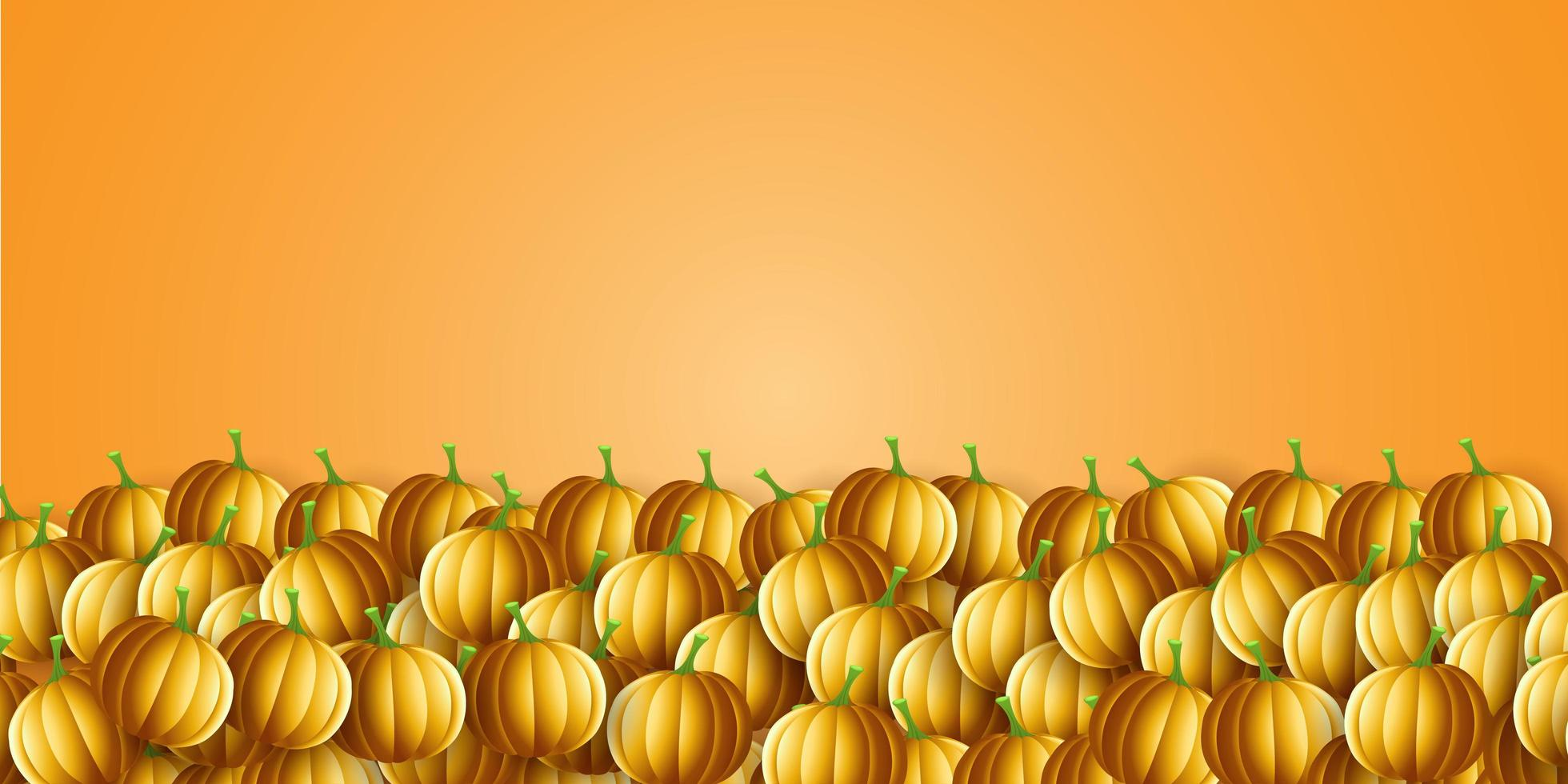 banner di zucca di Halloween vettore