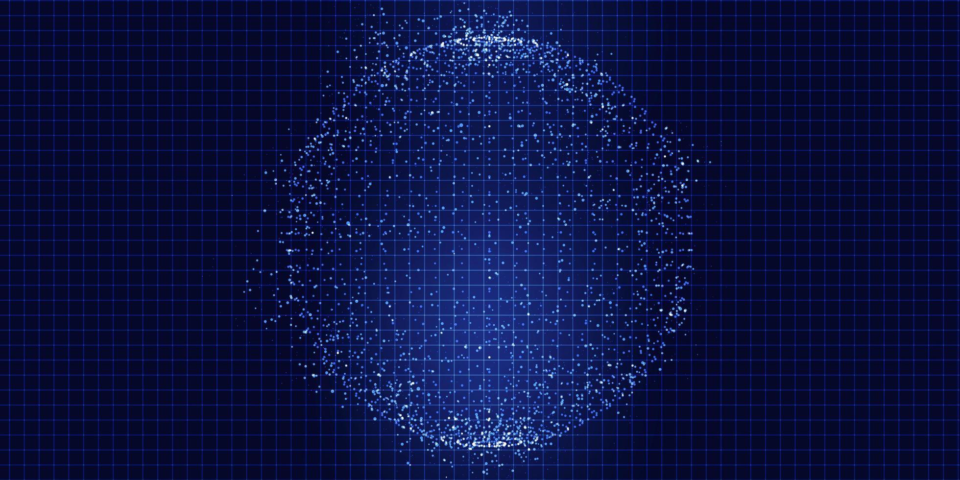 sfera di punti techno vettore