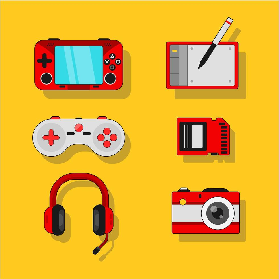 gadget e produzione per giochi mobili vettore