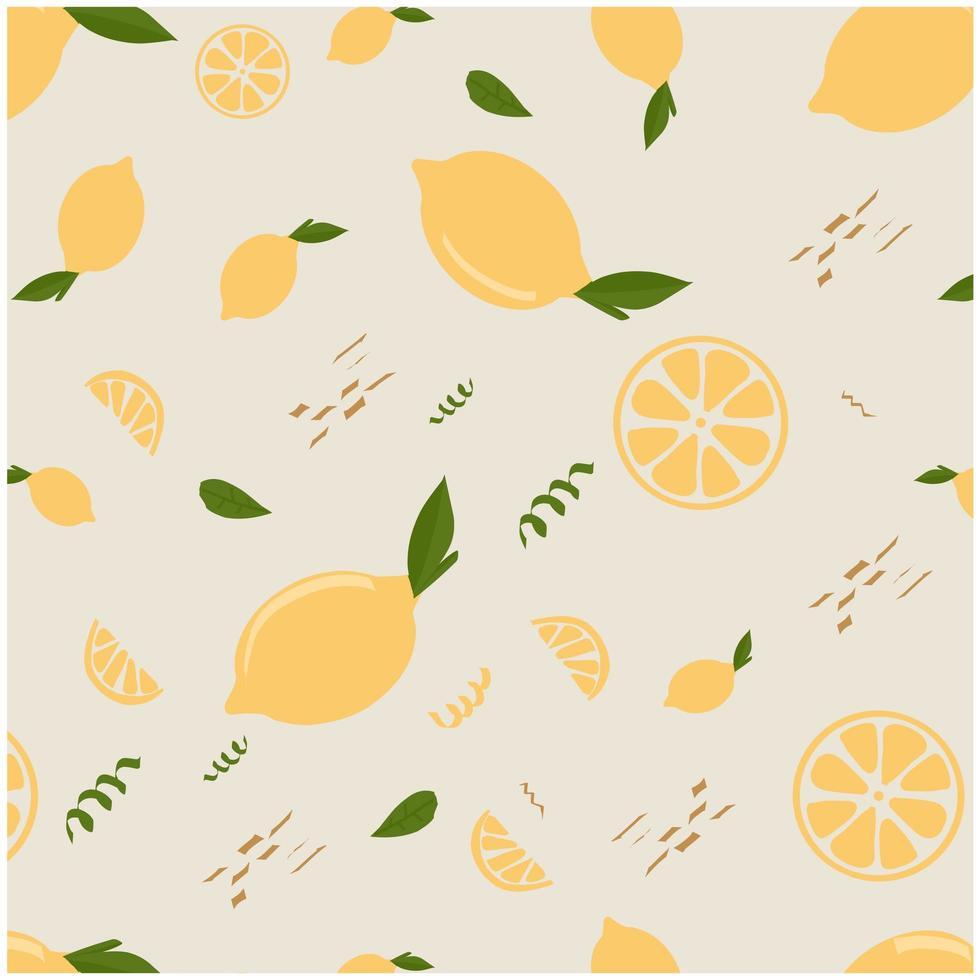 fondo disegnato a mano del modello del limone vettore